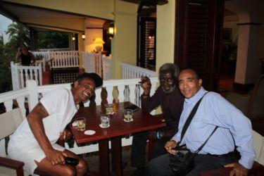 Avec Yannick Noah et son père, Auberge de la Vieille Tour (Gosier) (Small)