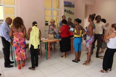 Vote le 23 mars 2014 à la mairie de Basse Terre