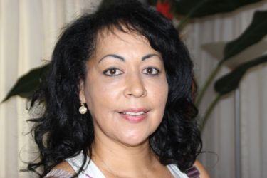 Chabela Rosell Lam, chanteuse cubaine résidant en Guadeloupe.