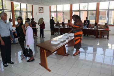 Vote le 23 mars 2014 à la mairie de Gourbeyre