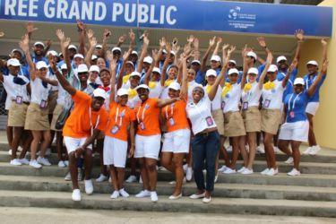 Les hôtesses de la Coupe Davis