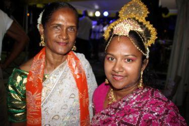 Seetha et sa mère Chantale