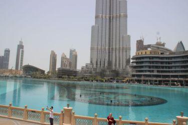 Au pied de Burj Khalifa