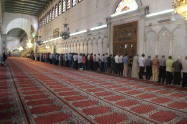 Prière à la Mosquée des Omeyyades (Damas)