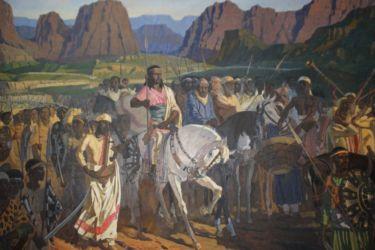 Menelik II à la bataille d'Adwa (1896)