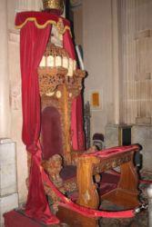 Siège d'Haïlé Sélassié dans la cathédrale de la Trinité