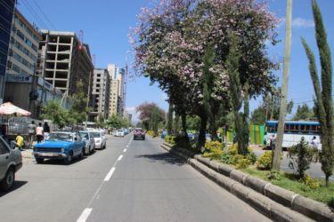 Une rue d'Addis