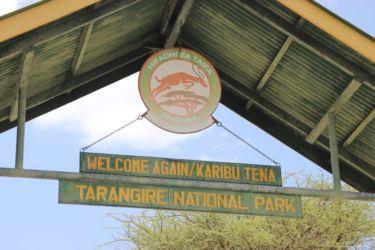 Entrée du Parc Tarangire