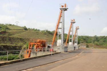 Portiques du barrage