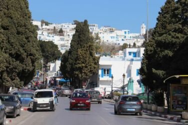 Sidi Bou Saïd, l'entrée de la ville