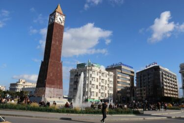 Tunis, la Tour de l'Horloge